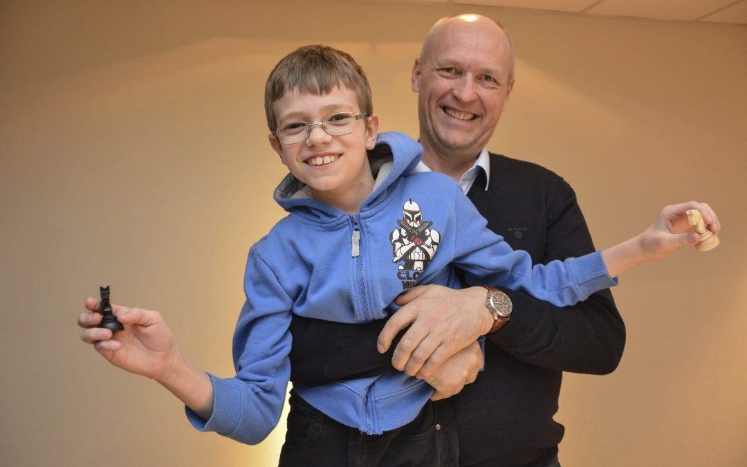 Thomas (9) var den yngste deltakeren i storturneringen